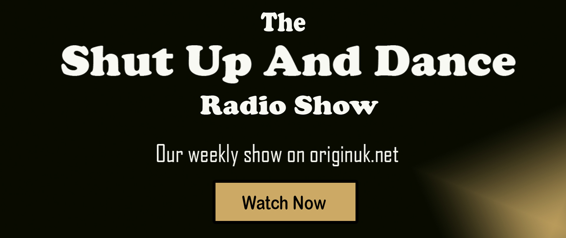 Shut Up and Dance Originuk Radio Show Front Page Banner